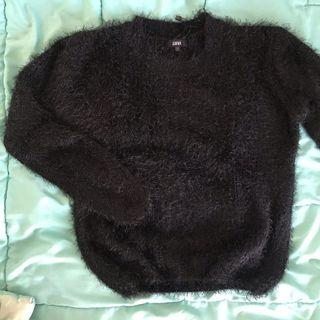 #BAPAU Sweater bulu hitam / black fur sweater