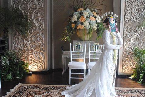 Gaun pengantin akad, gaun pengantin cantik, gaun pengantin mewah