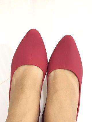 Jelly red shoe