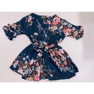 Korean Style Flower Top Shirt