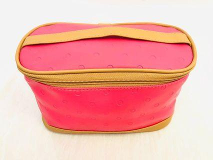 Nice Champaign Color Cosmetic Pouch With Handle
