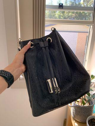 Guess black bucket bag
