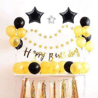 🚚 <In Stock> Gold Theme Birthday Party Set 🎊 🎉