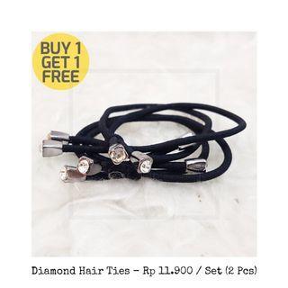 Diamond hair ties / ikat rambut diamond
