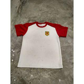 White Red Sleeves River Valley Primary School T-Shirt