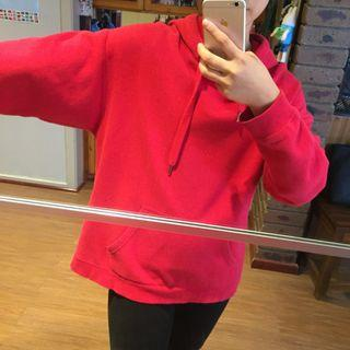 Red Oversized factorie hoodie