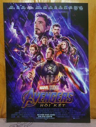 🚚 Avengers End Game Vietnam Mini Poster A5 Movie Flyer Ironman Captain America Thor Marvel