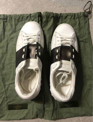 valentino open sneakers 40銀灰
