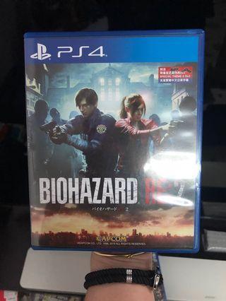 PS4 生化危機 2 重製版 中英 二手