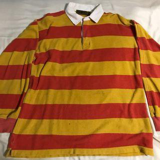🚚 Vintage stripes rugby polo