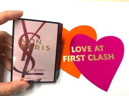 YSL 全新 香水 Parfum Floral 旅行裝 Mon Paris 1.2 ml, 100%專櫃正貨,可安心