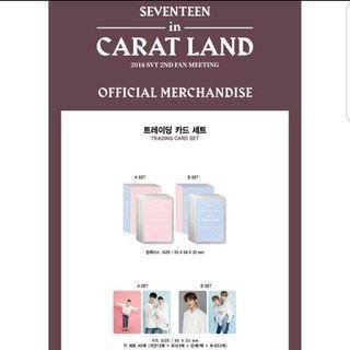 Seventeen CaratLand 2018 Trading Card Set