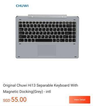 Chuwi hi13 magnetic keyboard dock