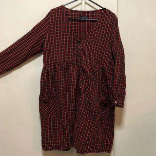 🚚 - ZARA RED CHECKERED DRESS -