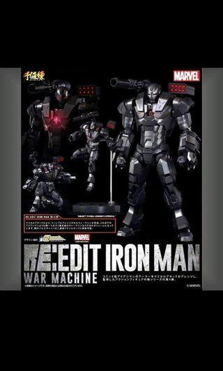 復仇者聯盟 千值練 限定 RE:EDIT 可動系列 MARVEL 鐵甲奇俠 avengers 4 戰爭機器 Ironman War Machine mark 1 全副武裝