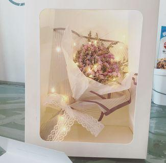 🌹Mother's Day Special  「Northern Lights」Korean Baby's breath Dried Flower➕greeting card🌹with/without fairy lights