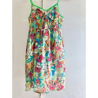 $10 SALE: Korean Genie Green Floral Dress (do you see this marked sold? no. then OBVIOUSLY ITS AVAILABLE)