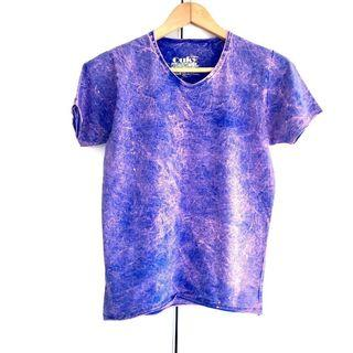 $10 SALE: Purple Acid Wash Tee Top (do you see this marked sold? no. then OBVIOUSLY ITS AVAILABLE)