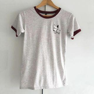 $10 SALE: Tumblr Dog Ringer Tee Top (do you see this marked sold? no. then OBVIOUSLY ITS AVAILABLE)