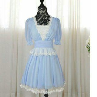韓版蕾絲雪紡連衣裙