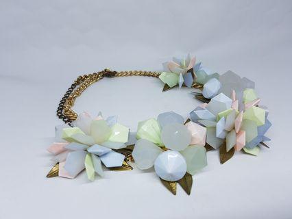 #BAPAU Colorful Crystal Necklace Kalung Kristal