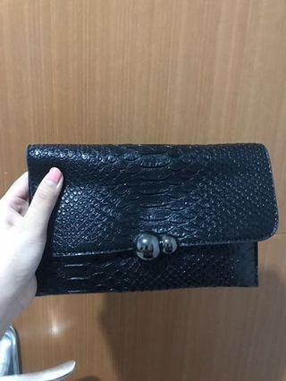 Preloved Like New - Original Korean Black Clutch