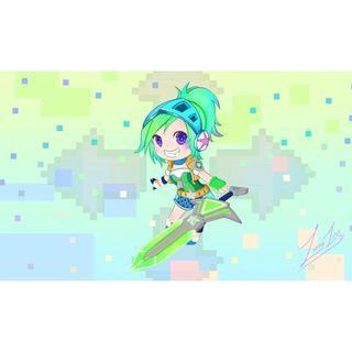 🚚 Arcade Riven Chibi Desktop Wallpaper [League of Legends] - Light Version