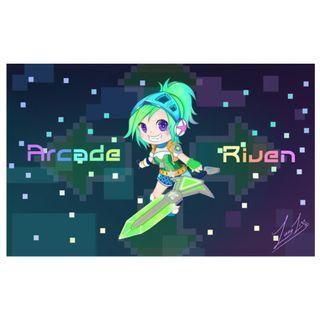 🚚 Arcade Riven Chibi Mac Wallpaper [League of Legends] - Dark Version