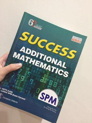 Additional Mathematics Form4&5 Oxford Fajar Success Reference Book