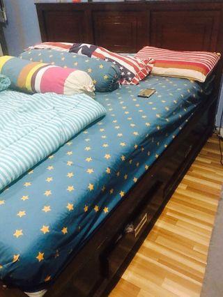 Tempat Tidur Jati King Size Bed 180x200 cm