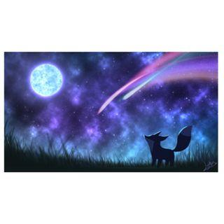 🚚 Fox & Luna Desktop Wallpaper (Cool Colors)