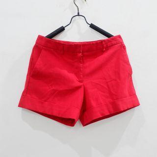 Celana Pendek F21 Red Short Forever 21 Women Pants #mauthr