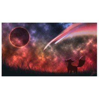 🚚 Fox & Luna Wallpaper (Warm Colors)