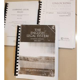 Law book bundle - The English Legal System