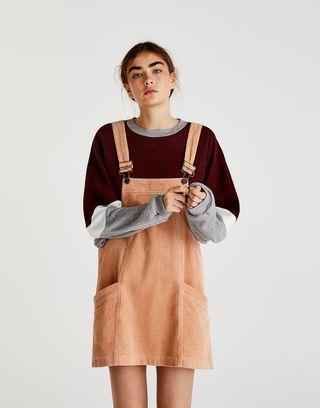Pull & Bear 啡色燈芯絨工人裙