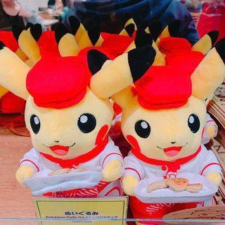 日本東京-皮卡丘Pokémon Cafe 限定玩偶