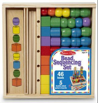 Melissa & Doug Wooden Bead Sequencing Toy Set