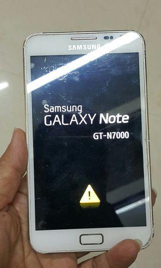 已損壞 SAMSUNG GT-N7000 手提電話(只合懂維修或作零件之用)