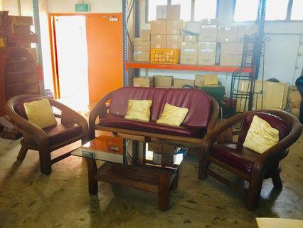 Solid cane sofa and coffee table set #homerefresh30