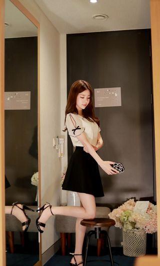 韓國白色蝴蝶結上衣