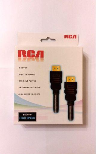 全新24K鍍金接駁口RCA HDMI 2米 high speed cable