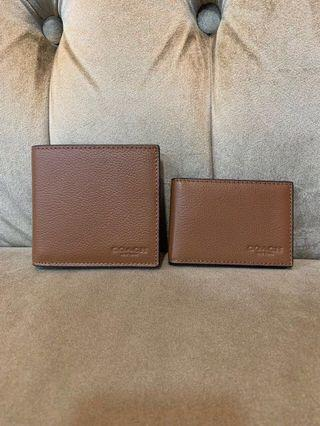 COACH F58084 DOUBLE BILLFORD WALLET in CALF LEATHER