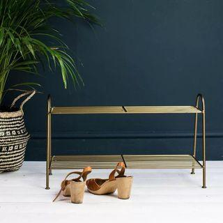 Bronze shoe rack