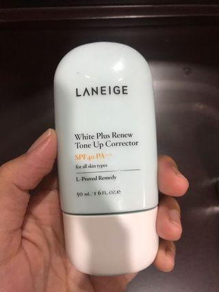laneige white plus renew tone up cream spf 45