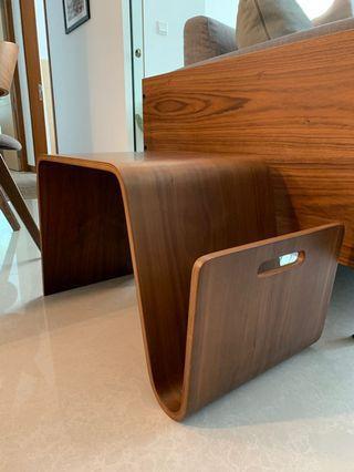 Modern Side Table in Walnut Brown