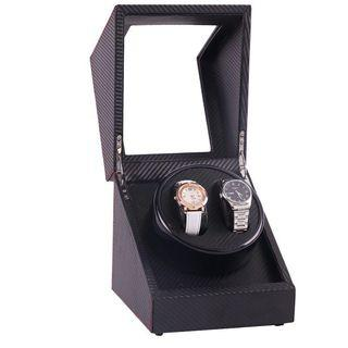 *PROMO* BNIB Automatic Classic Watch Winder Wood Box(Carbon Fibre) for two (2) watches winding