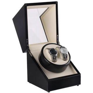 *Promo* BNIB Automatic Classic Watch Winder Wood Box (black/ white) for two (2) watches winding
