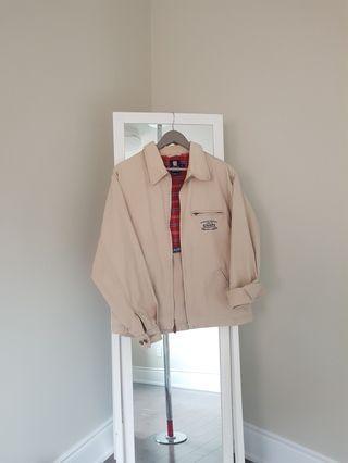 chaps oversized beige jacket