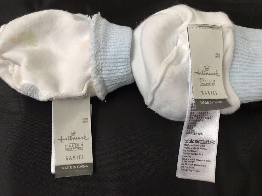 $5(1套2件)Hallmark初生嬰兒手套仔 腳套仔