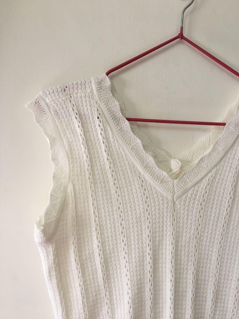 🔖韓全新)可愛的花針織背心